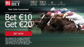 Bet €10 with Mansion Bet and get €20 in Free Bets